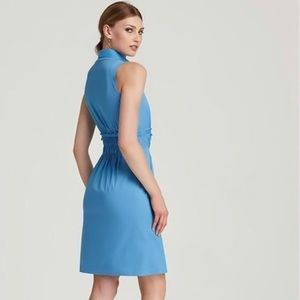 Elie Tahari Blue sleeveless summer dress size 2